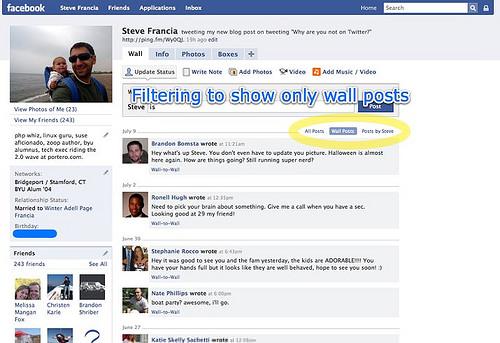 Facebook 2 | Filtering wall posts