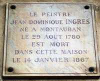 Plate in memory of Ingres at 11 Quai Voltaire in Paris, where Ingres died in 1867 (© Celette, CC BY-SA 4.0)
