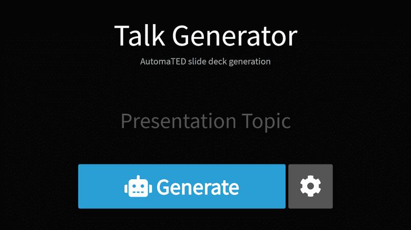Screenshot of talkgenerator.com