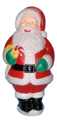 Santa With Candy Cane photo