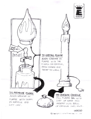 Empire Candle Instruction Manual preview