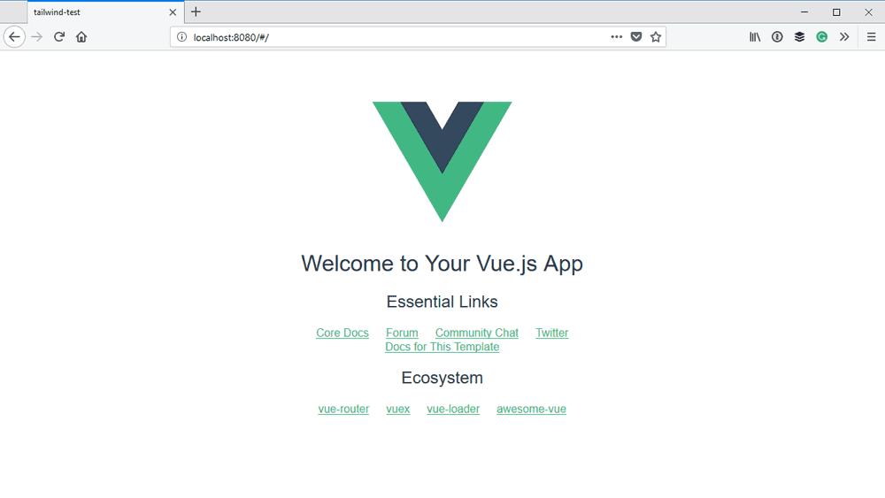 Default Vue application