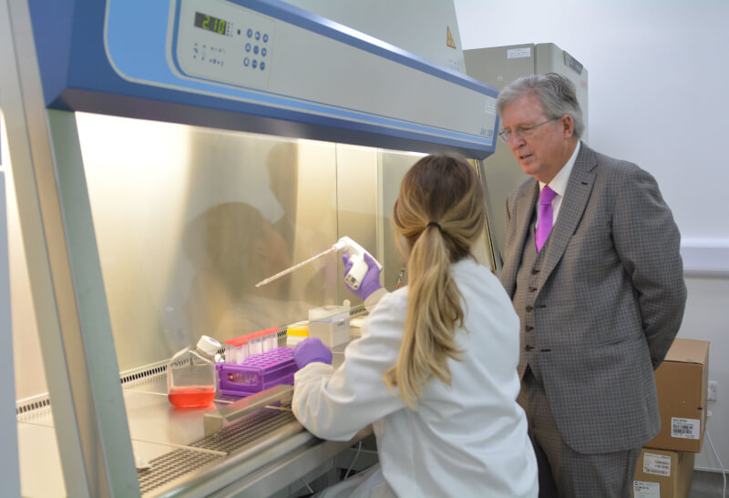 John Griffin in the Lab at The Griffin Institute