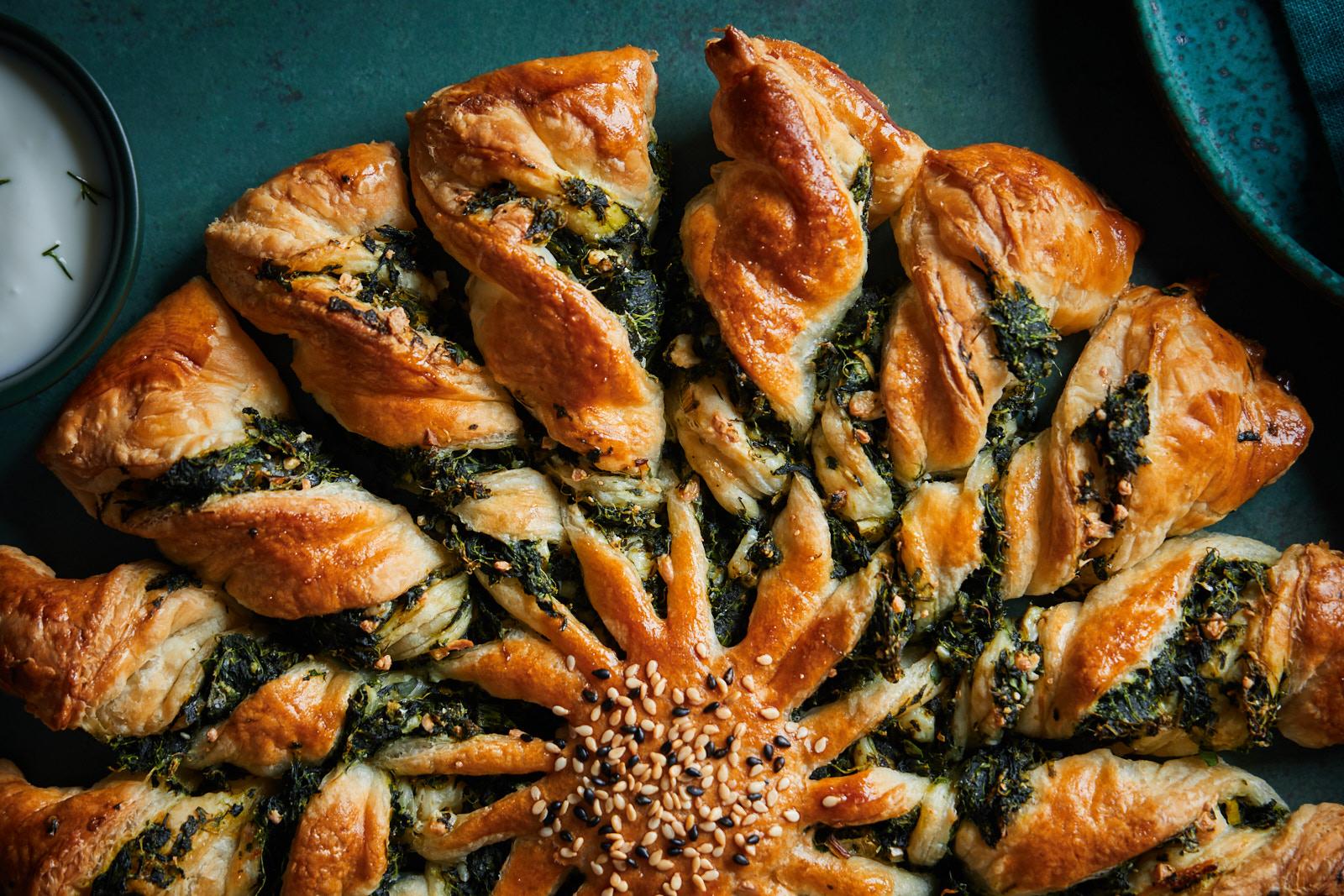 Spanakopita Tarte Soleil (Spinach and Feta Pie)