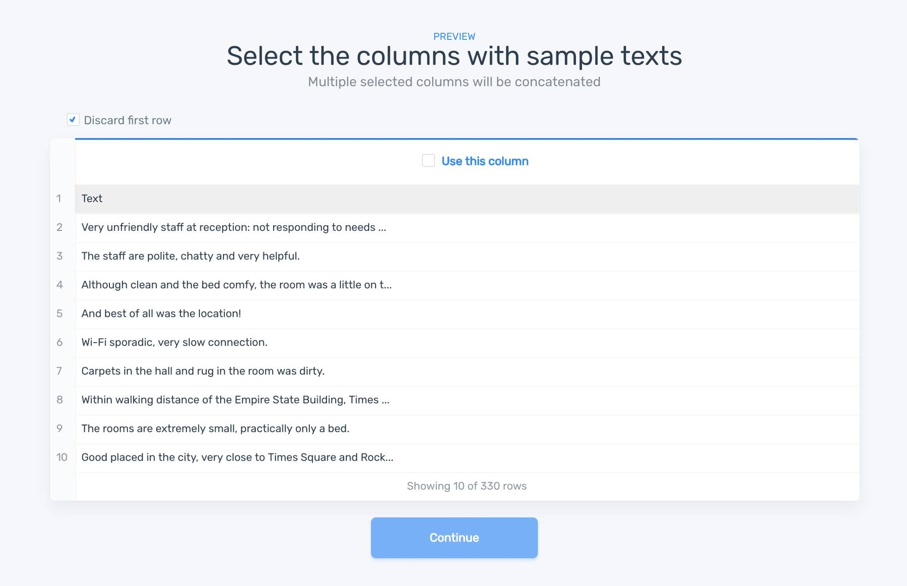 Text classifier with machine learning