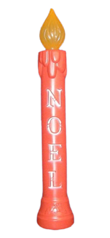 Lighted Noel Candle Red photo