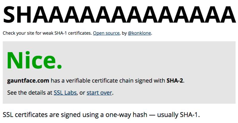 shaaaaaaa Test Results for Gauntface.com