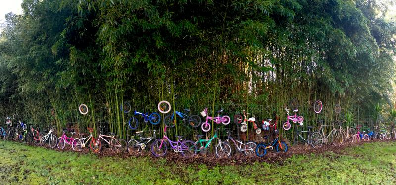 An outdoor cycle-centered mural of sorts