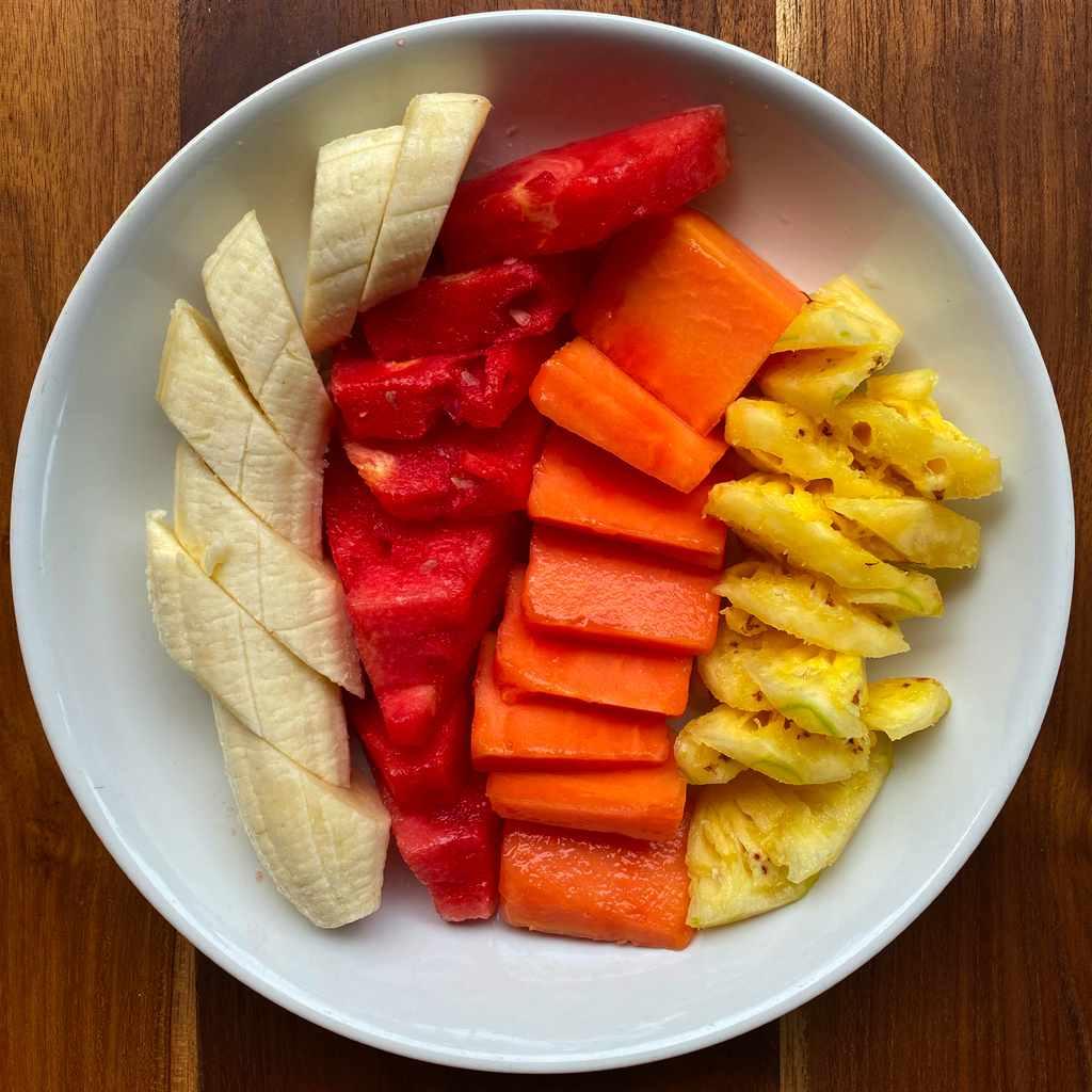 breakfast: fruit salad