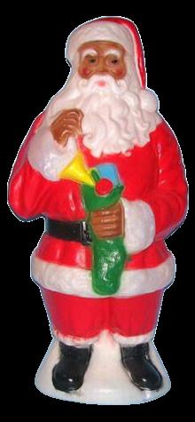 Traditional African American Santa photo