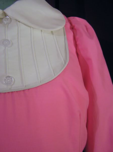 Stitching detail on commissioned Janet dress based on a previous Rocky Horror Show tour, price on request