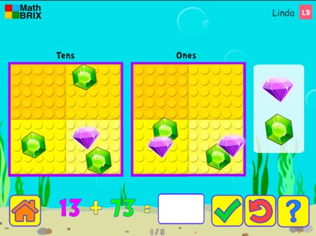 Minicomputer: Addition up to 100 (overlaps) Math Game