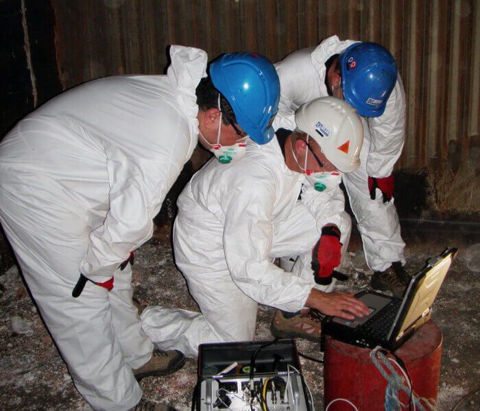 Boiler Inspection crew with the temate® TG-IS(B)