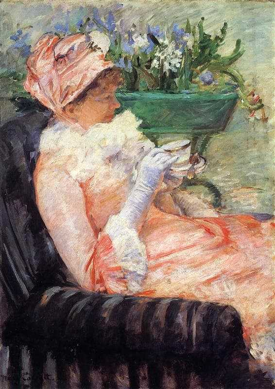 'The Cup of Tea' by Mary Cassatt later purchased by Durand-Ruel