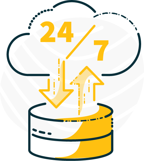 24/7 access icon