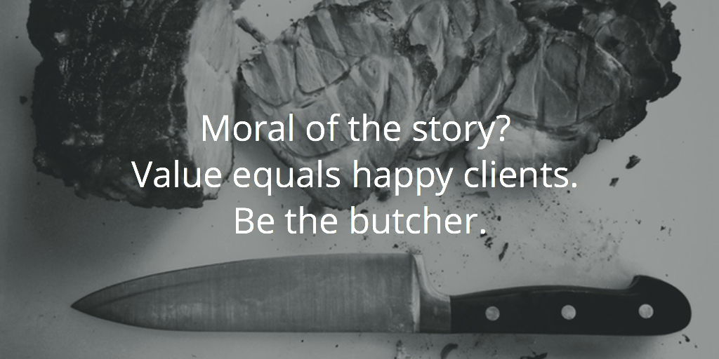 be the butcher not the supermarket