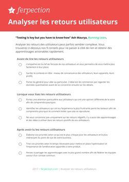 Téléchargez nos checklist UX