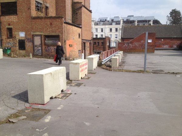 Concrete Barriers for Pedestrian Footpath