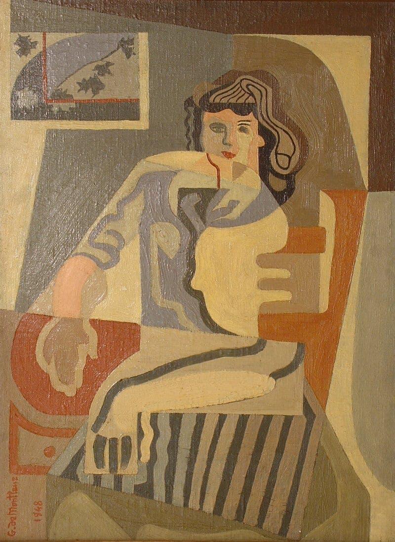 Femme assise à la chaise