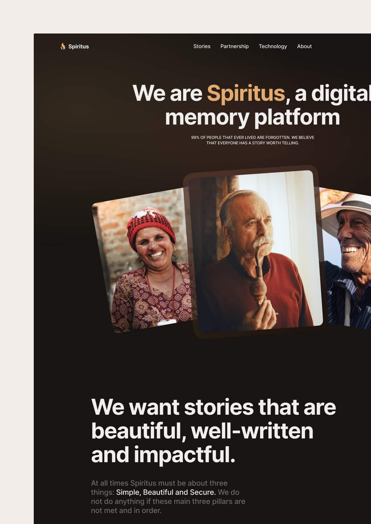 Spiritus Memoria startup project image
