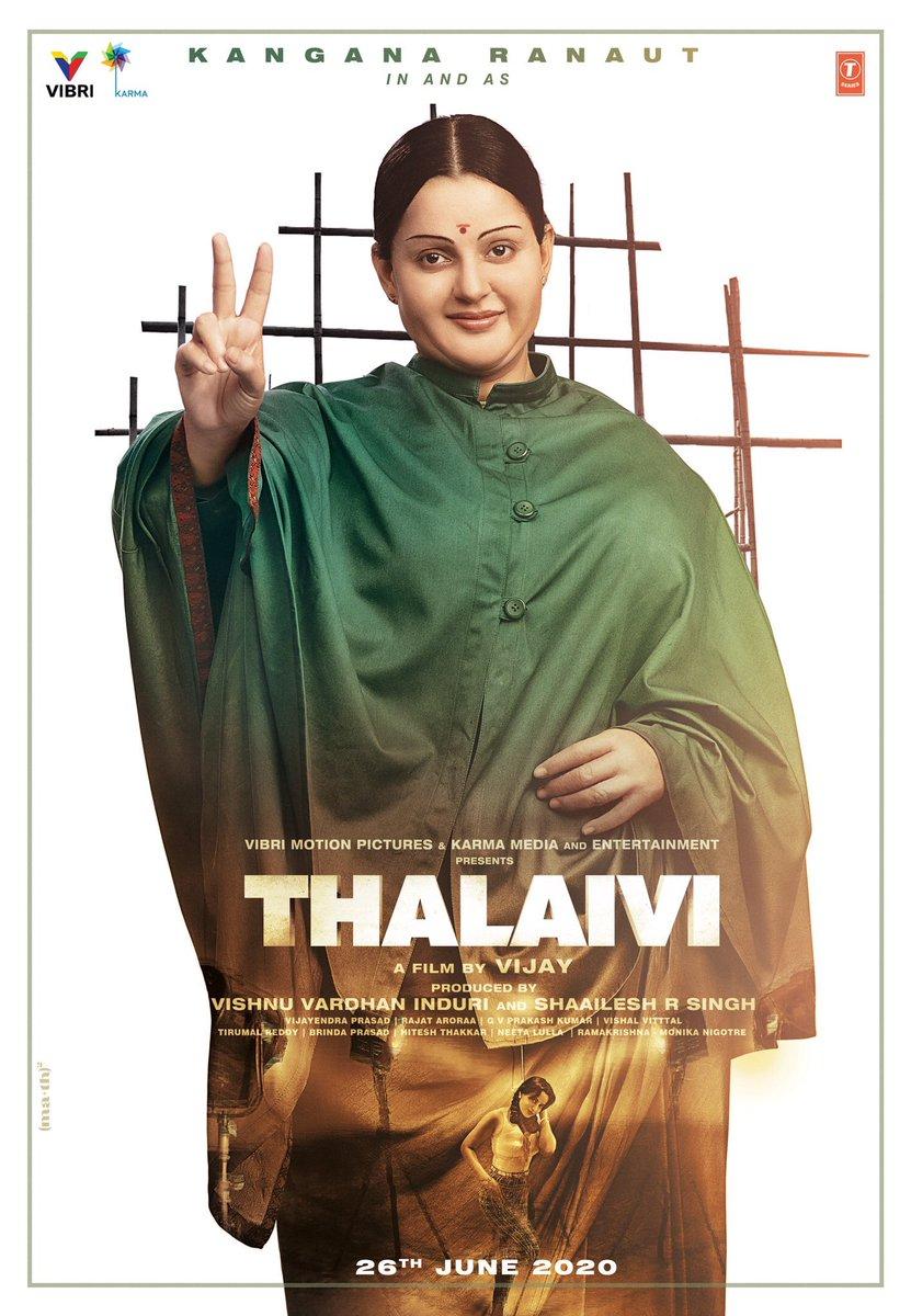Kangana Ranaut in Thalaivi First Look