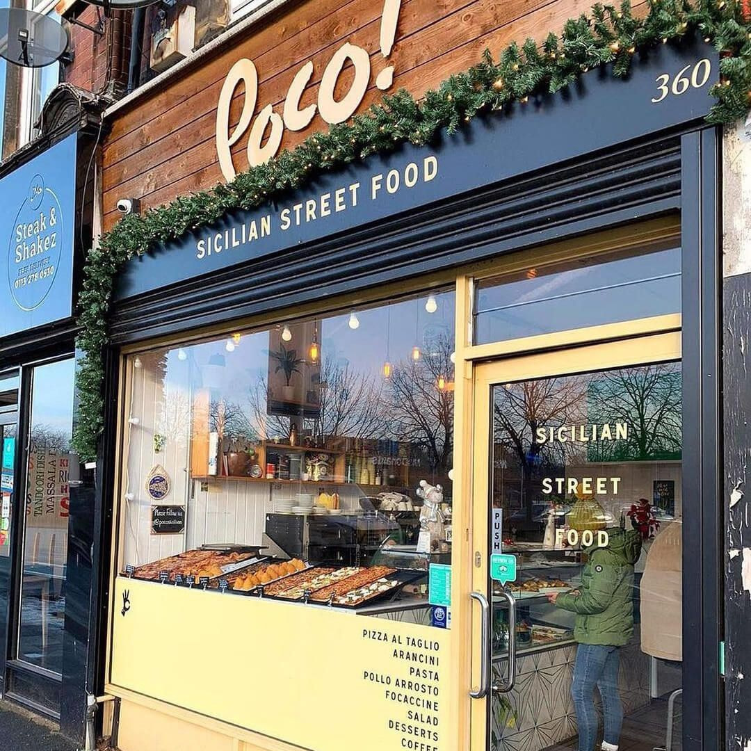 The outside of Poco Sicilian, on Kirkstall Road