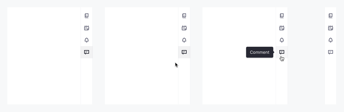Toggling in a vertical bar