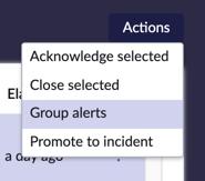Alert group options