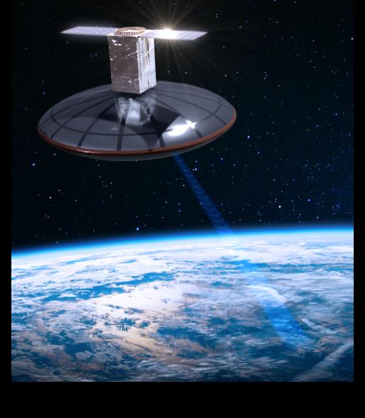 Tomorrow.io satellite beaming to Earth