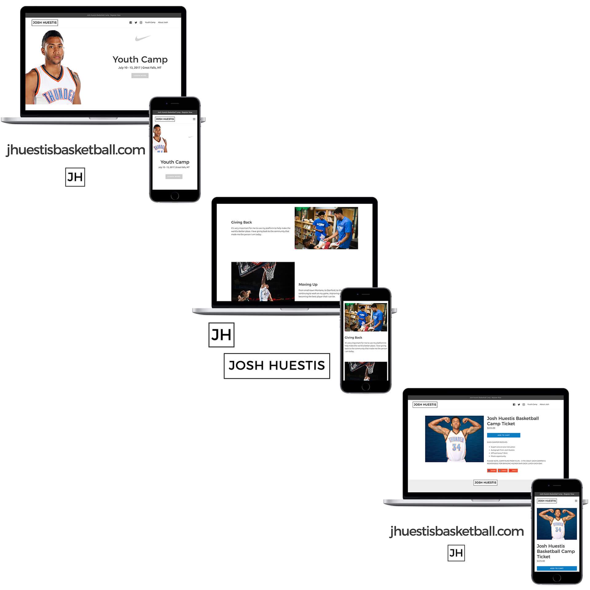 Josh Huetis Website Mockup Design