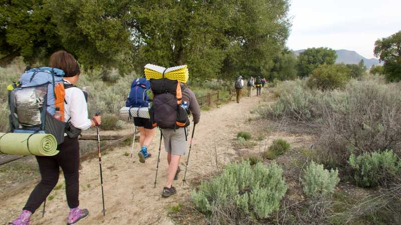 Leaving Boulder Oaks Campground