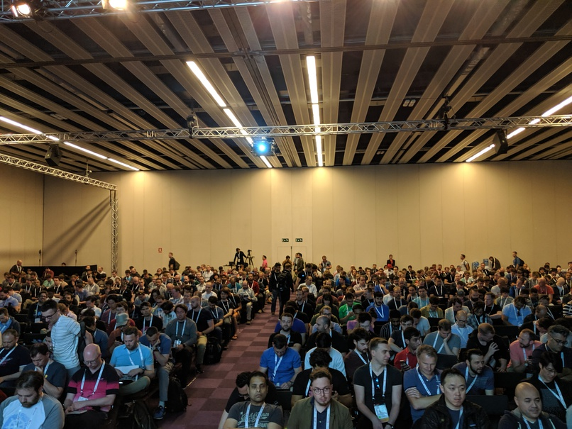This is easily one of my most popular talks, 1229 people registered as attending and there was only standing room!