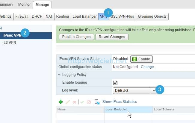 How to change logging level in NSX - 17