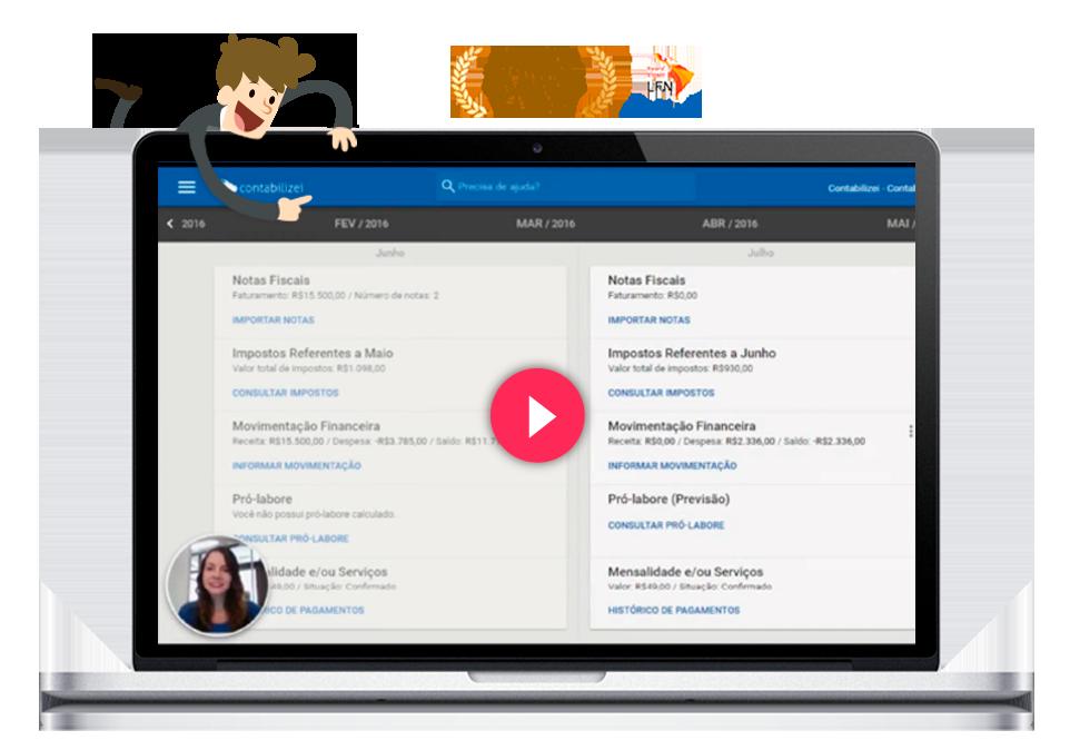 Rotina plataforma Contabilizei Contabilidade Online