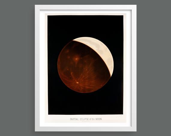 Partial Eclipse by Etienne Leopold Trouvelot