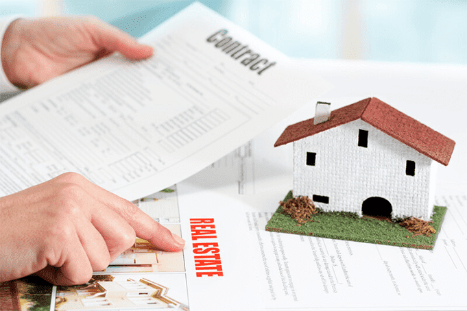 A rental contract being reviewed