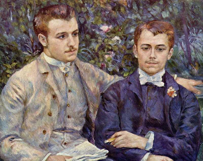 'Portrait of Charles and Georges Durand-Ruel', by Pierre August Renoir in 1882