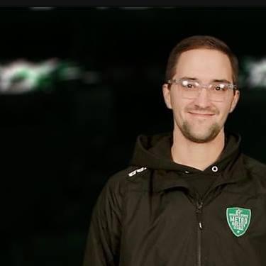 Adam Larson, host of the face-off spot