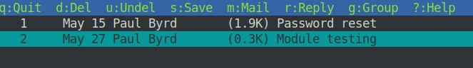 Mailbox content