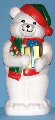 White Teddy Bear With Presents photo