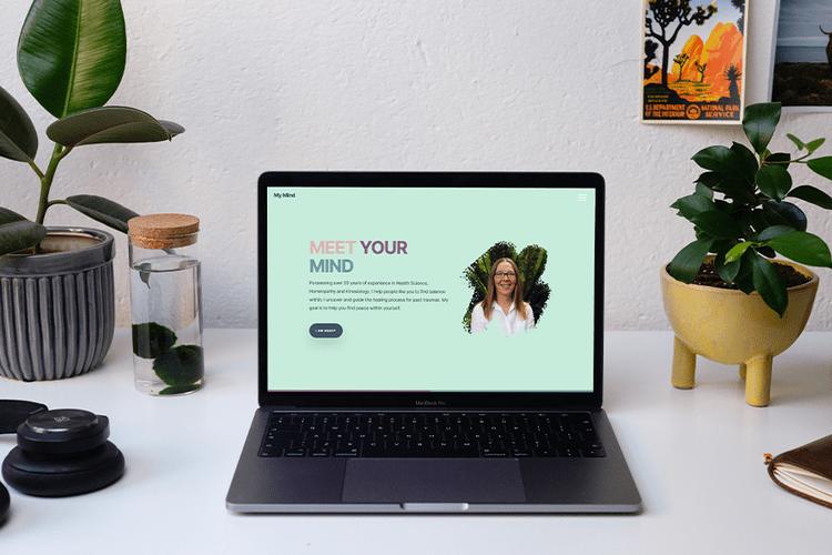 A mockup of the Jane My Mind Website