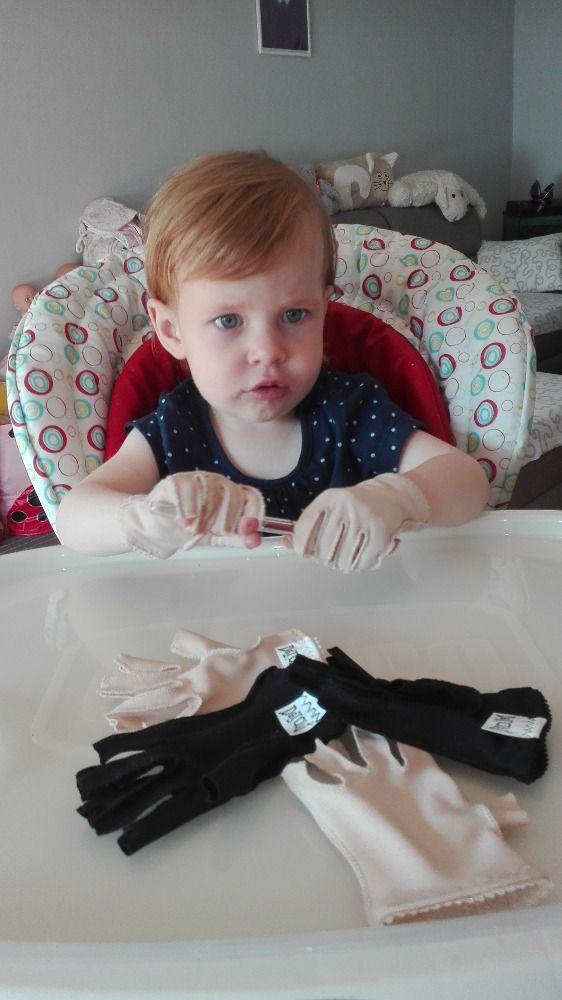Poděkování za elastické rukavičky