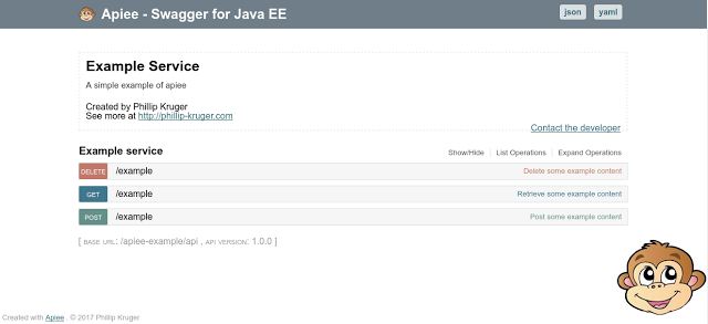 Apiee - an easy way to get Swagger on Java EE
