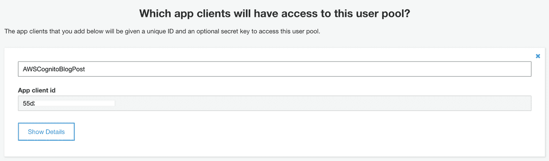App Client Id