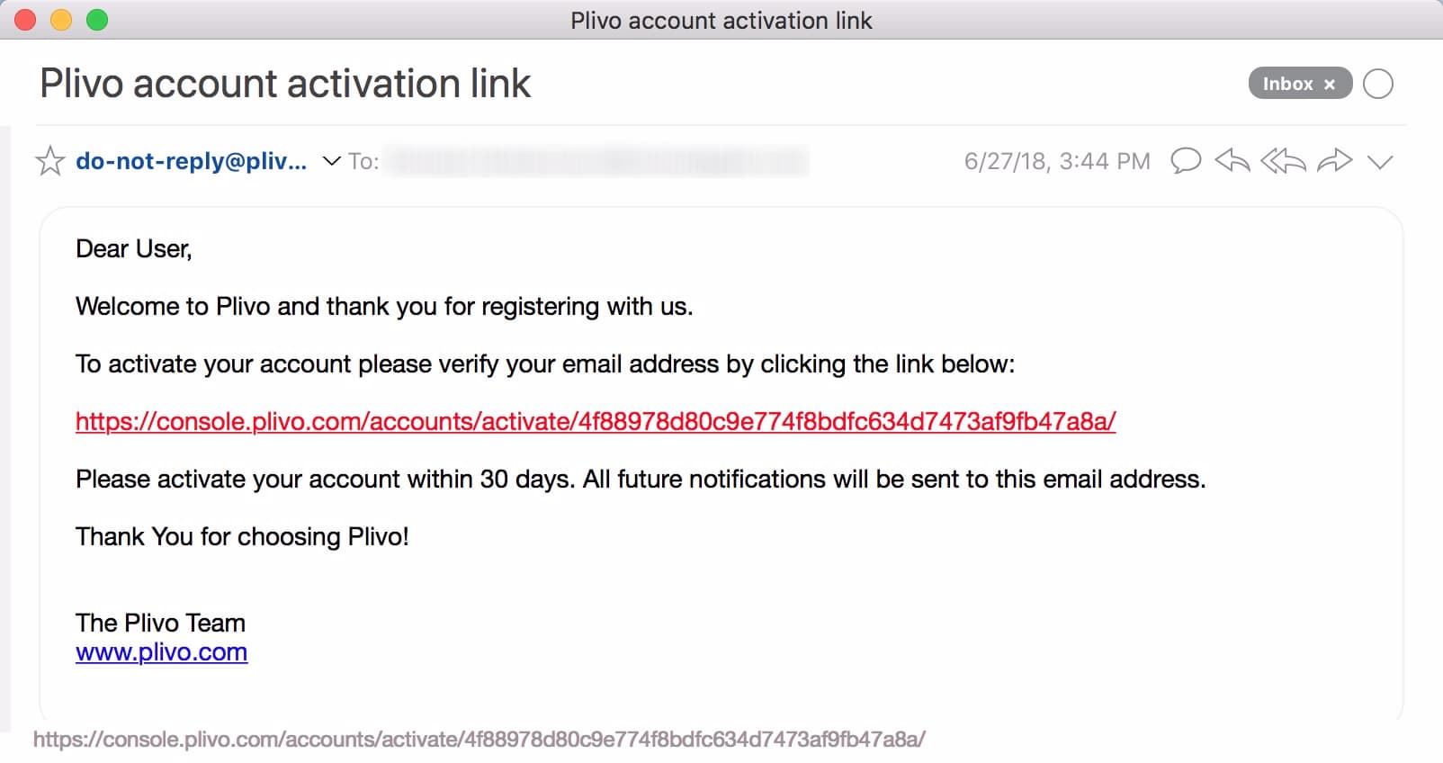 Click the confirmation link, then confirm your phone number when asked.;