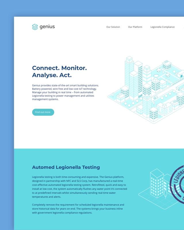 Genius Buildings web design
