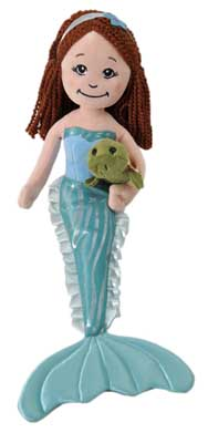 "The Petting Zoo: 17"" Mermaid with Turtle Assortment"