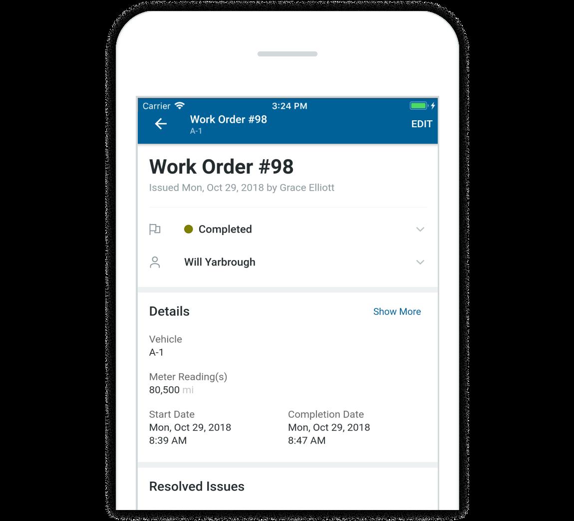 Work order half w