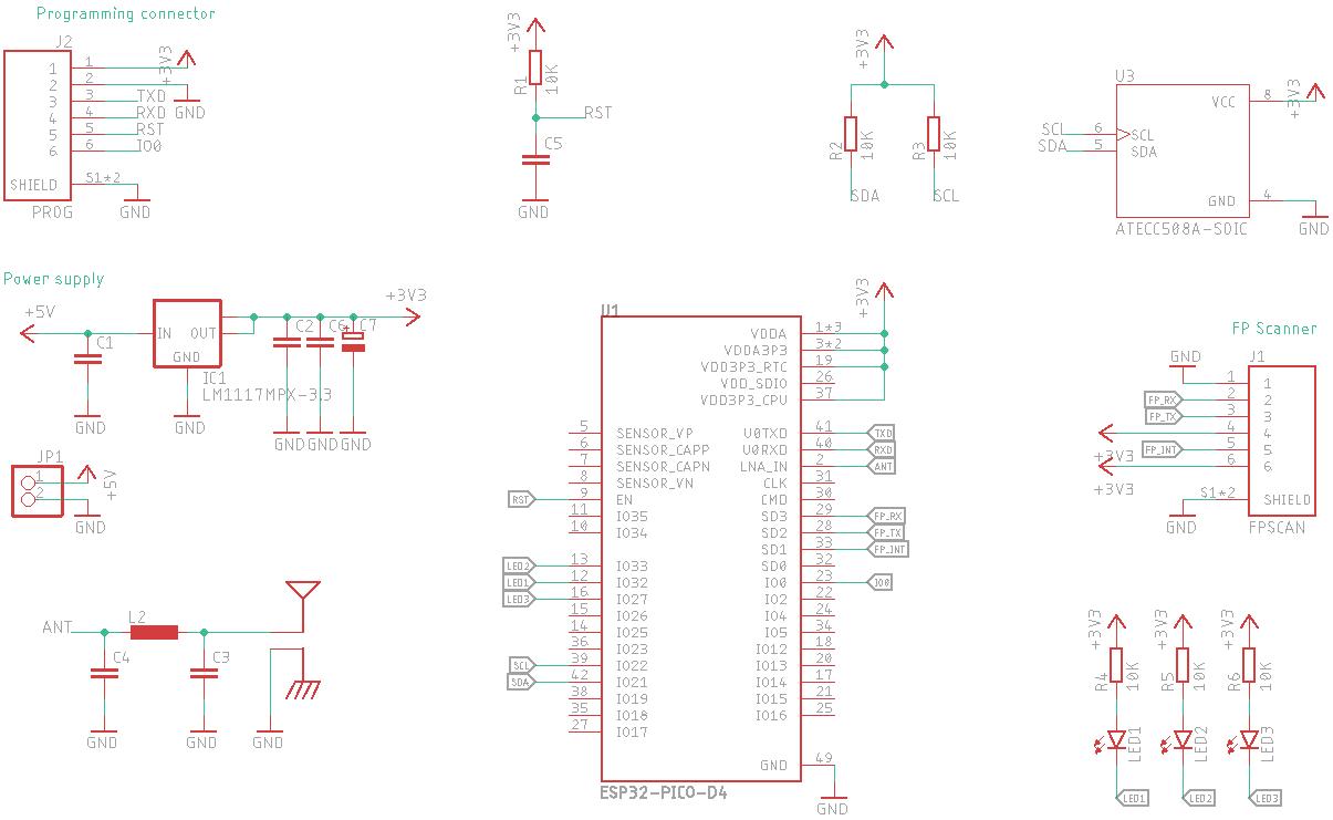 Prototype device schematic