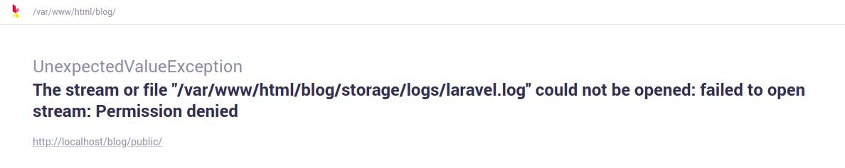 Laravel log permission denied